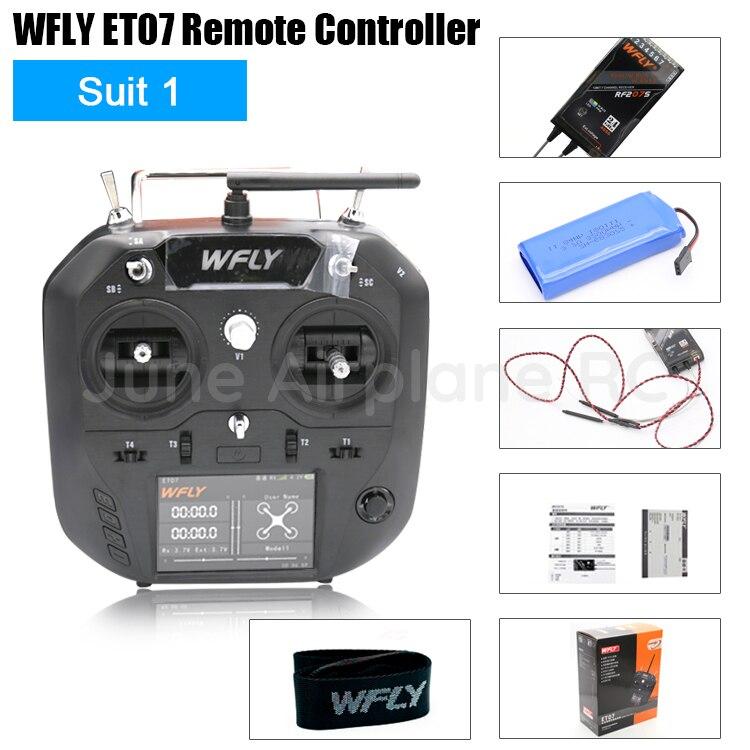 Émetteur RC WFLY ET07 10 canaux 2.4 GHz + signal WBUS/PWM récepteur RF207S 10 canaux pour avion Rc