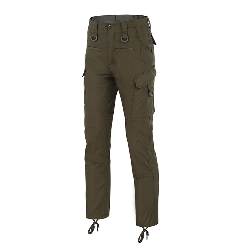 Mens Military Tactical Pants Quick Dry Multi-pocket Lurker Full Length Pants Cotton Casu ...