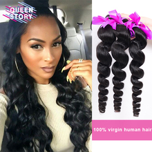 Top quality 8A Brazilian Virgin Hair Loose Wave 4 Pcs Brazilian loose wave human hair