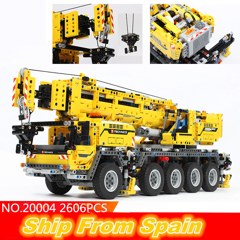ship from Spain 20004 3057pcs Technic Power Functions Motor Crane Mk II Truck building blocks bricks