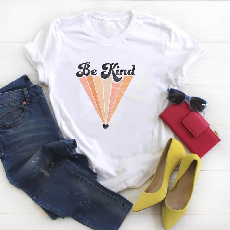 Frauen Shirt Der Frauen Werden Art Gedruckt Damen Kleidung Kawaii T-shirt Tees Grafik Nette Top Kurzarm Weibliche T-shirt