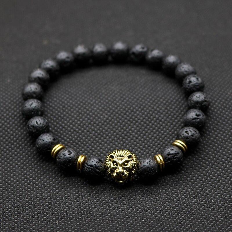 4afa73ebedd6 Comercio al por mayor de Oro Antiguo de Color Buda Leo Lion Head Pulsera de  Lava