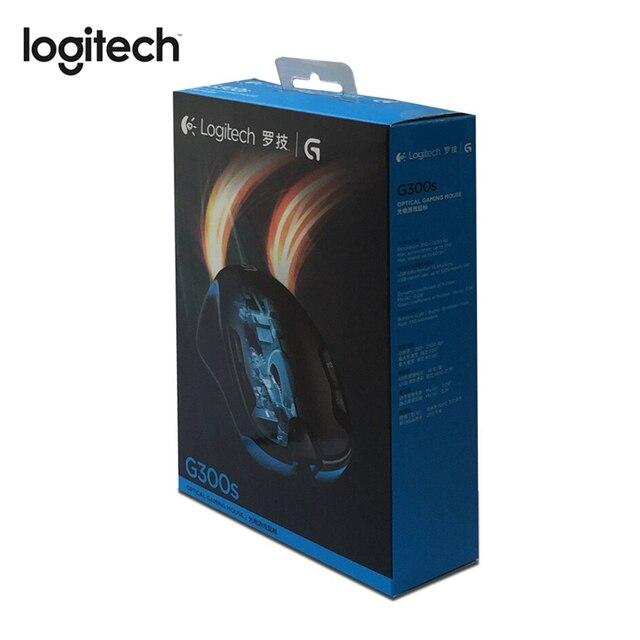 Проводная игровая мышь Logitech G300S с 2500DPI 9 перезаряжаемыми программируемыми кнопками для ПК/ноутбука, геймерская мышь, предназначенная для MMO