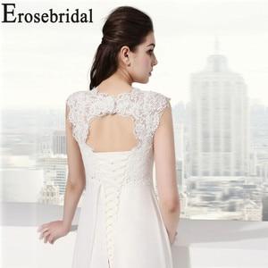 Image 5 - Erosebridal White Ivory Wedding Dress New Design 2019 Classical Beach Bridal Gown Elegant Lace Up Back In Stock