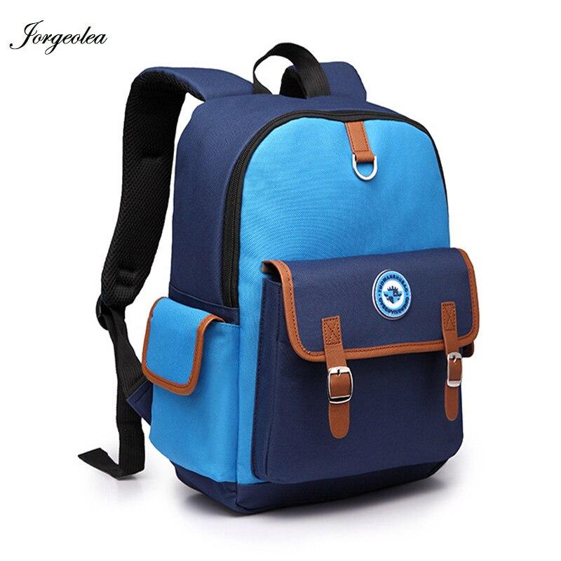Jorgeolea школьная сумка для мальчика и девочки ребенок школьного рюкзака одноцветное маленький ребенок сумка 180305
