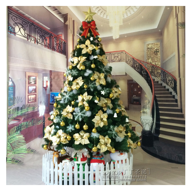 Buy personalized large 180cm 210cm pvc for 180 degrees christmas decoration