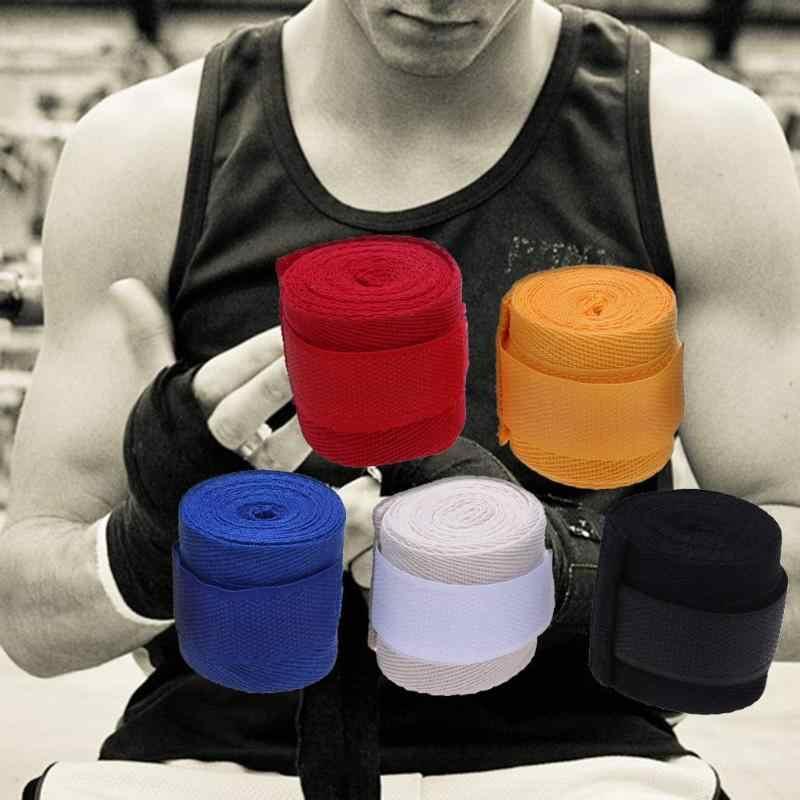 1 pieza de algodón Kick Boxing vendaje correas de muñeca Correa deportiva vendaje de boxeo Muay MMA Taekwondo protección de mano