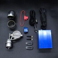 Kit Válvula de Válvula de vácuo Válvula de Escape Recorte 2.0 2.5 polegada OBD Soa Controle Remoto & Gire a Velocidade Variável