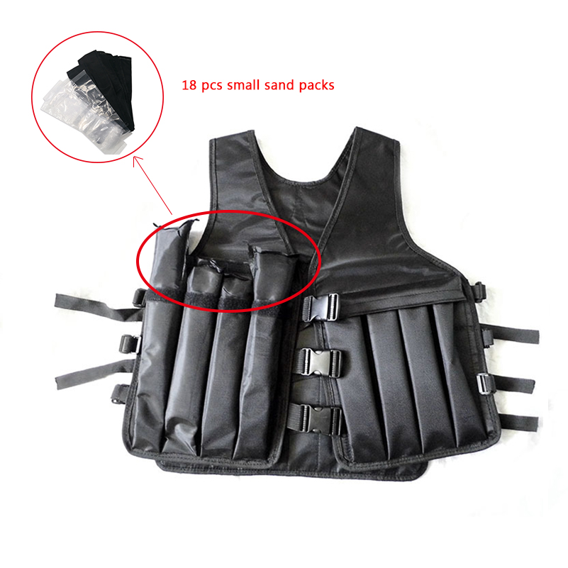 Exercise 5kg-25kg Loading Weighted Vest Boxing Training Adjustable Fitness Running Sand Clothing Sports Workout Equipment(Empty)