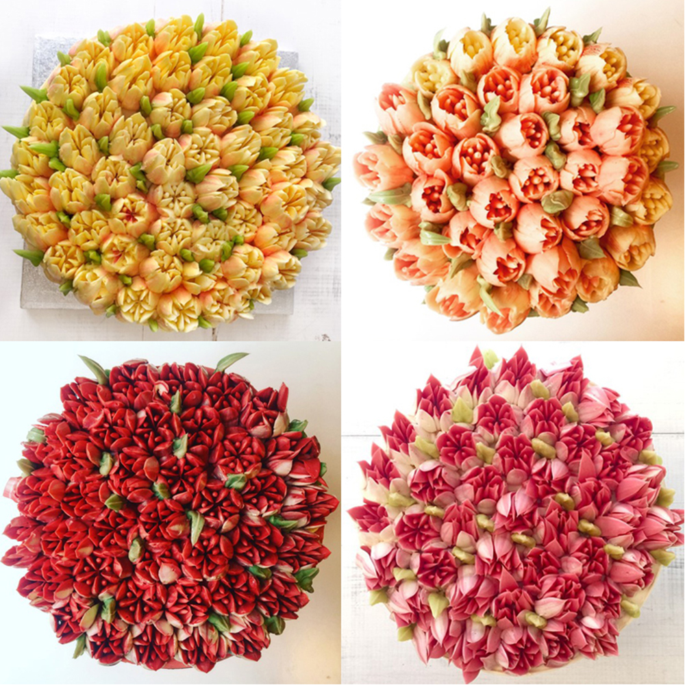 Image 5 - 7pcs Cream Nozzles Stainless Steel Icing Piping Tips Rose Tulip Flower DIY Cake Decoration Tool Kitchen Accessory Baking Supply-in Baking & Pastry Tools from Home & Garden