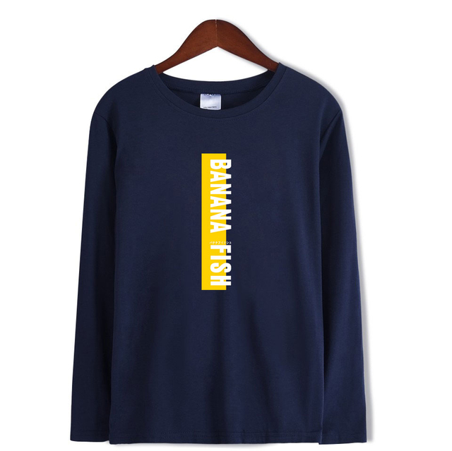 BANANA FISH 2 Long Sleeve T-shirt Autumn fashion Hip Hop Fans Woman T-shirt Top Fashion Popular K-pop O-neck Tee