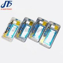 5 unids/lote para Samsung Galaxy S7 G930F S7 edge G935F Marco de placa media carcasa bisel chasis con todas las piezas