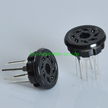 8pcs Bakelite Tube Socket K8A PCB 8pin EL34 6SN7 KT88 6L6 5Z3P 5U4G 6CA7 5Y3GT Tube Amplifier Parts цена и фото