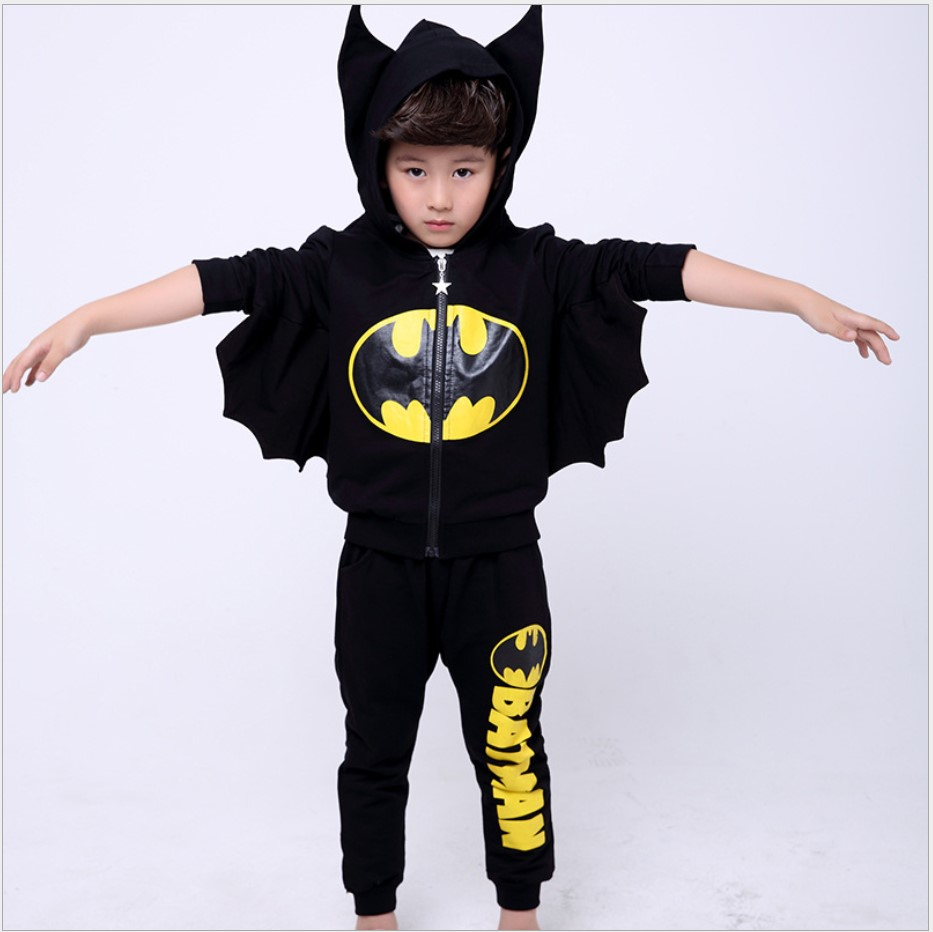 Boys Fall 2017 Halloween Costume Boys Clothing Kids Sets Children Sports Suit Teenage Hooded Hip Hop Clothes For Girls 10 Years