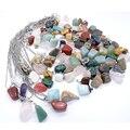 Wholesale 2016 mixed Point Natural stone Rose Quartz Irregular shape charms pendants jade agate jewelry pendants 36pcs/lot