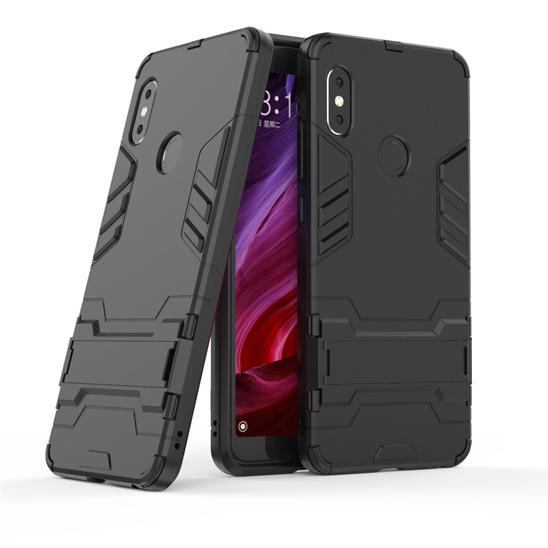 EACHTEK Armor Cases For Xiaomi Redmi note 5 Pro Case Hybrid Heavy Duty Soft Rubber Hard Stand Cover For xiaomi Redmi note5 pro