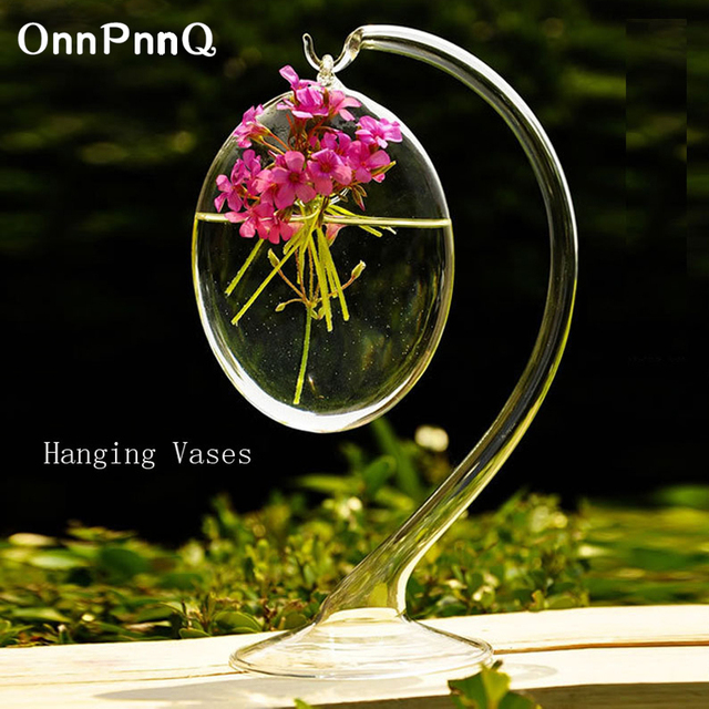 onnpnnq 22 9cm hanging vases decoration home handmade glass