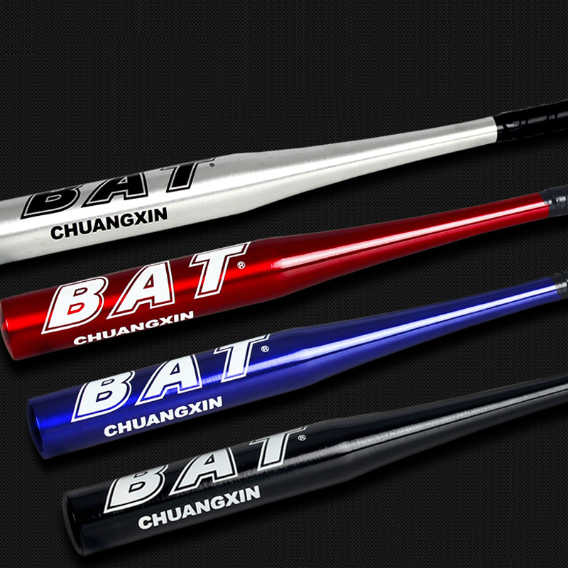 High Strenght Training Softball Baseball Bat Stick Aluminum Baseball Bat Hard Ball 25 28 30 32 inch Black Silvery Blue Red