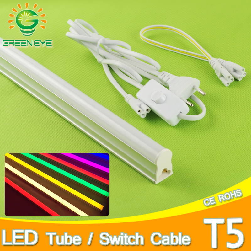 EU Standard 220v 10w LED Tube T5 /1.5m Switch Cable Wire /30cm Connector Cable Integrated Tube Light Adapter 60cm