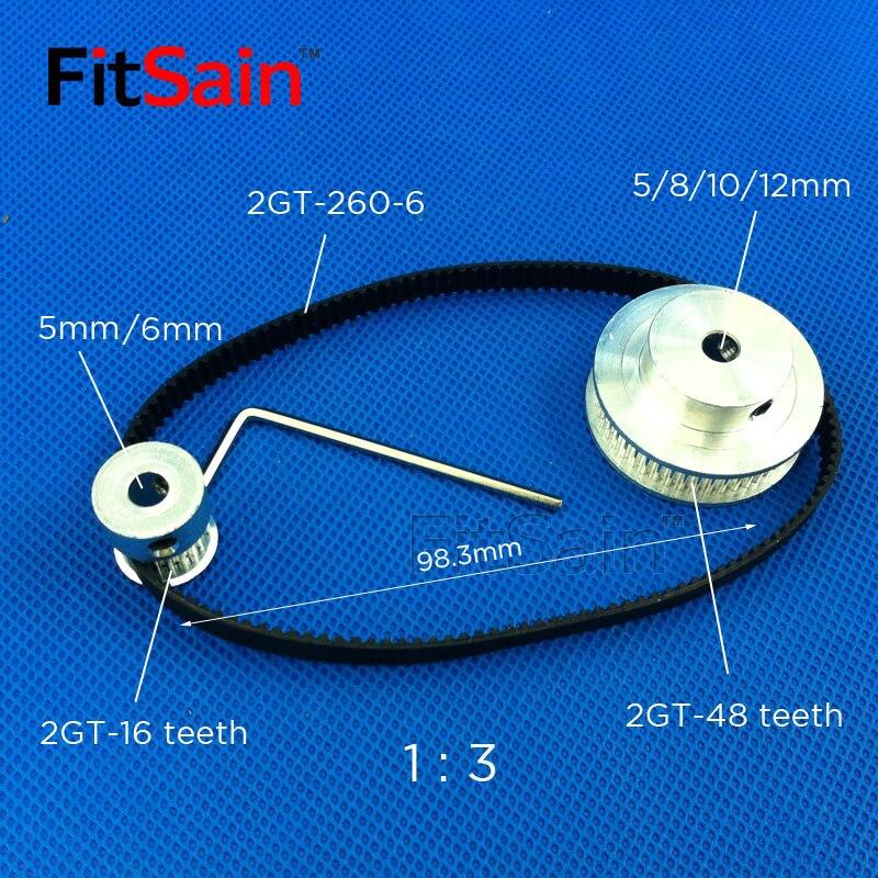 FitSain 2GT 16 T: 48T 1: 3 ширина 6 мм алюминиевый сплав коэффициент редукции привода синхронный Центр колеса отверстие 5 мм 8 мм 10 мм|hole|   | АлиЭкспресс - Комплектующие к CNC/3D Print (ЧПУ и 3D принтеры)