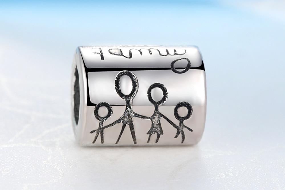 2019 Nieuwe Zilveren Kralen Charm Met Happy Family Diy Bead Charms Fit Pandora Armbanden Vrouwen Armbanden En Armbanden Sieraden Cadeau - 2