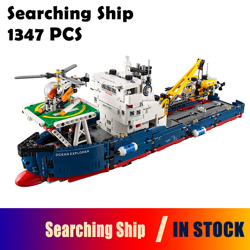 Compatible with Lego Genuine Technic 42064 20034 1347pcs Searching Ship Set building blocks Figure Bricks toy for children lego lego technic 42031 ремонтный автокран