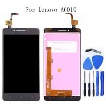 Yüksek kalite Lenovo A6010 için 5.0 inç lcd monitör + digitizer dokunmatik ekran bileşen değiştirme ücretsiz aracı 1280*720