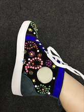 Top Selling Spring Autumn Shoes Women Round Toe Lace Up Flat Casual Shoes Multicolored String Beading Embellished Outdoor Shoes