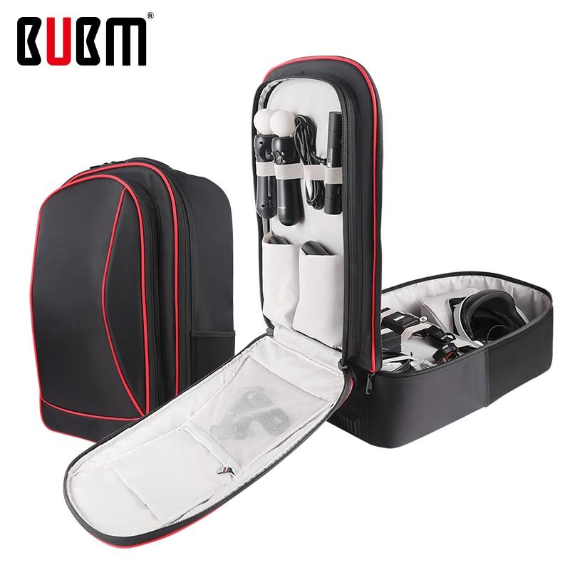BUBM sac pour PS4 PSVR console de jeu playstation sac de voyage sac à dos pour VR organisateur de rangement étui de transport jeu gamepad sac
