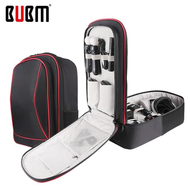 Bolsa BUBM para PS4 PSVR, consola de juegos, bolsa de viaje para playstation, mochila para VR, organizador de almacenamiento, bolsa para mando a distancia para Estuche de transporte de juegos