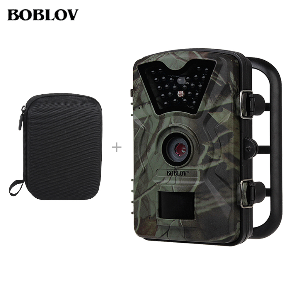 BOBLOV CT008 Game Wildlife Trap Hunting Camera 12MP 1080P HD IR LED 2.4 LCD Video Recorder Scouting Cameras Free Carrying Bag