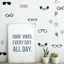 HWHD os1583 Carton Glasses Wall Decal Home Decor Party Decor Kids Room Nursery GLASSES Wall Decals Stickers Free shipping