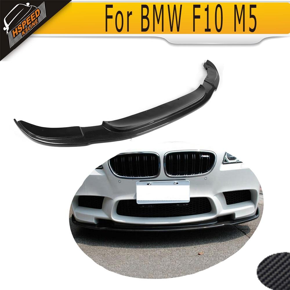 carbon fiber front bumper Lip spoiler for BMW F10 M5 4 Door Original 2012-2016 H style цена