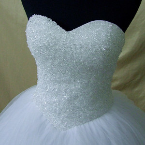Image 5 - QQ Lover 2020 Plus Size New Luxury Bling Bling Crystals Train Ball Gown Wedding Dress Lace Up Back
