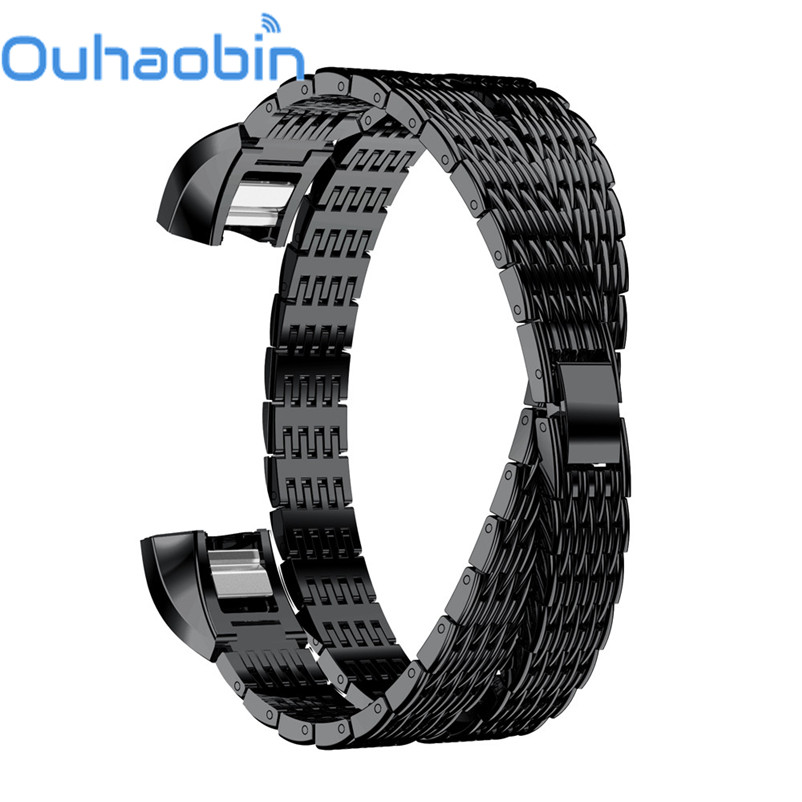 Ouhaobin Genuine Stainless Steel Watch Bracelet Band Strap For Fitbit Alta HR/Fitbit Alta Watch Oct 2 Dropship/Wholesale
