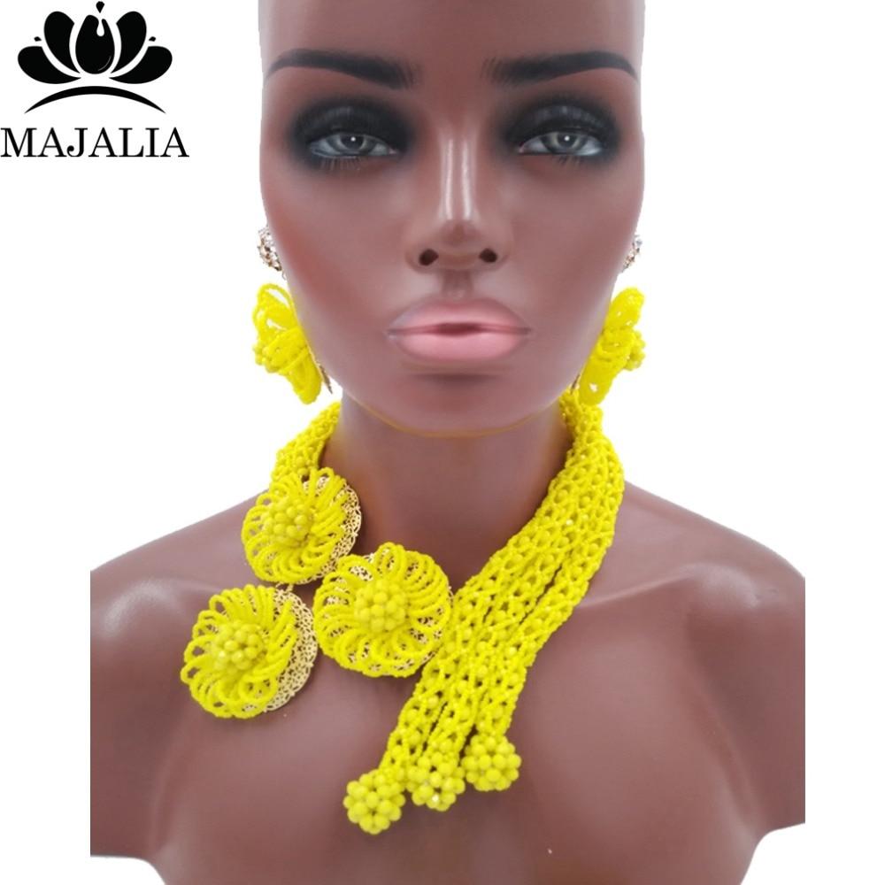 2017 Fashion Nigeria Wedding african beads jewelry set blue Crystal necklace Bridal Jewelry set Free shipping SS-037 цена 2017