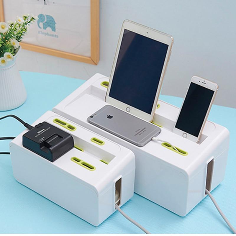 Tira de alimentación Cable Cajas de almacenamiento Enchufe de - Organización y almacenamiento en la casa