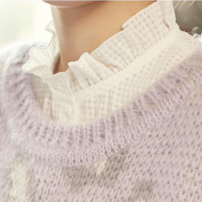 Lady Stand Ruffle Fake Collars Autumn Removable Collar Camisa Tie Top Nep Kraagje Blouse Cheap China Tie Detach Col False Collar