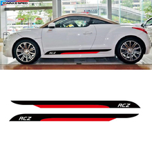 AutoFor PEUGEOT RCZ Coupe Door Side Skirt Stripes Sport Styling Vinyl Decal Car Accessories Body Customized DIY Sticker
