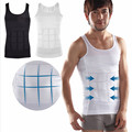 Hot sales Men Shaper Vest Body Slimming Tummy Belly Waist Girdle Shirt Shapewear Underwear