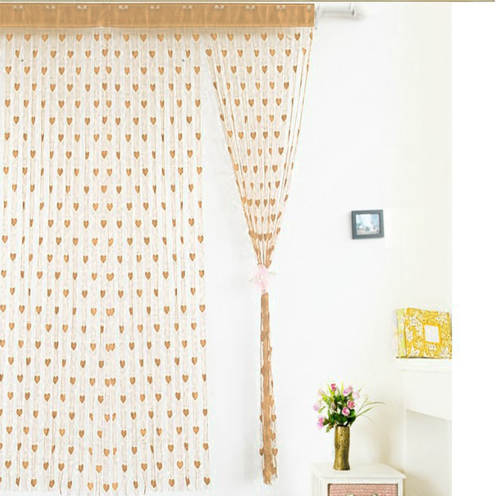 Luxury Modern Romantic heart line door curtain tulle curtain for living room hotel Divider curtains wedding decoration supplies