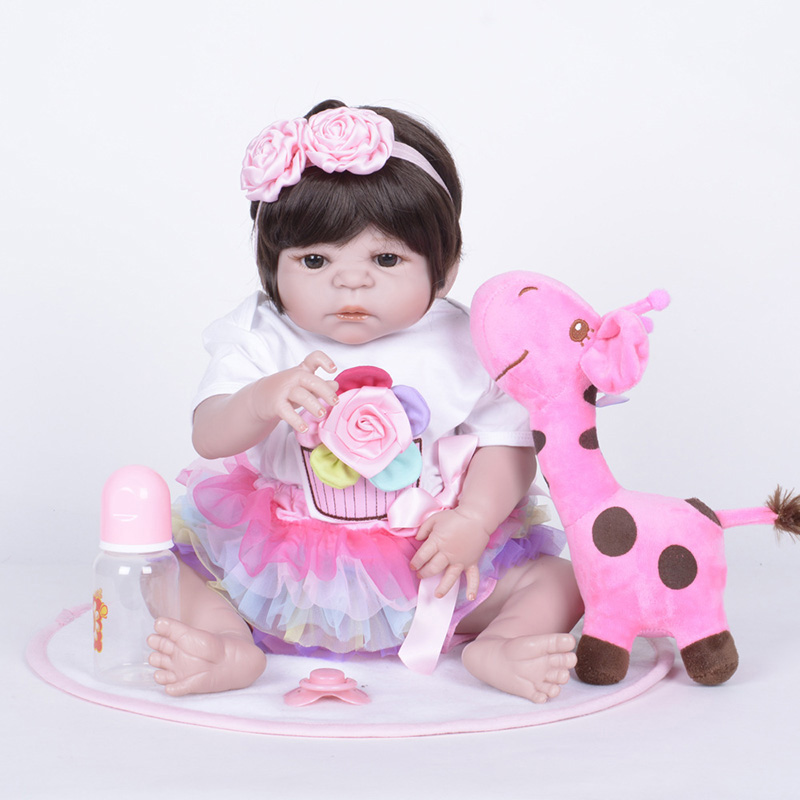 Doll Reborn American Girl Newborn Full Silicoen Reborn Doll Baby Birthday Gift Reborn Doll with Soft Cloth SF5515 Bebes Reborn warkings reborn