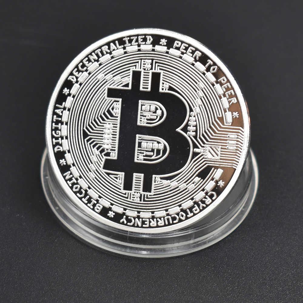 ゴールドプレートホット販売 Bitcoin コインビットコイン金属コイン物理 Cryptocurrency 記念コイン