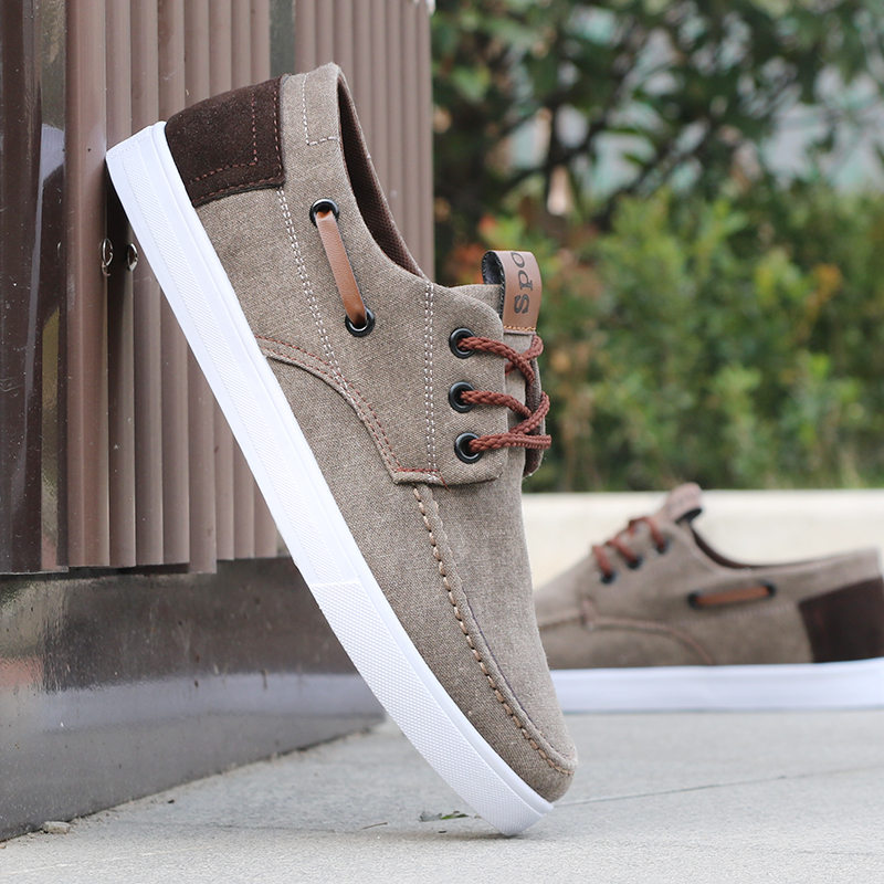2019 Summer Men Shoes Lace-up Comfortable Breathable Canvas Casual Shoes Men Sneakers High Quality Wear Resistant Flat Shoes Man