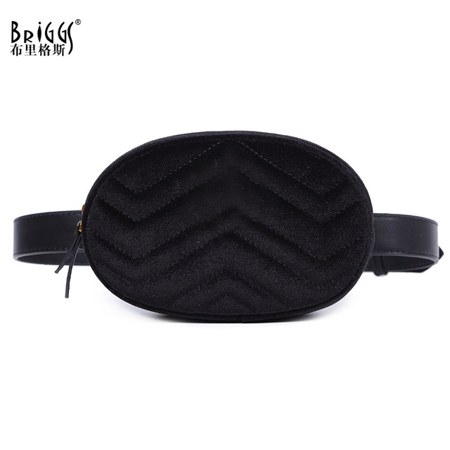 BRIGGS 2018 New Arrival Fashion Waist Bag Solid Women Waist Packs Belt Bag High Quality PU Leather Chest Bags gg-9588