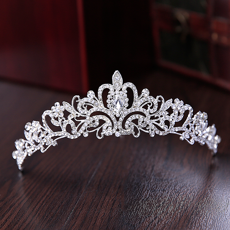 Hot Sale Noble Crystal Bridal Jewelry Sets Hotsale Silver Fashion Wedding Jewelry crown necklace earrings set