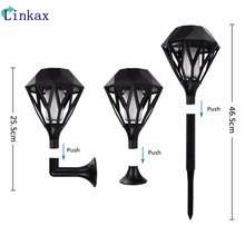 96PCS LED Solar Flame Flickering Garden light IP65 Outdoor Torch Light Spotlights Landscape Decoration led Lamp