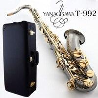 Оригинальный тенор Янагисава T 992 T WO20 Bb Черный Никель золотой саксофон профессиональный музыкальный инструмент с случае мундштук
