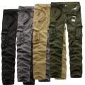 2017 Spring New Cotton Cargo Pants Men Multi-pocket Casual Slim Camouflage Trousers Men(Asian Size 29-40)