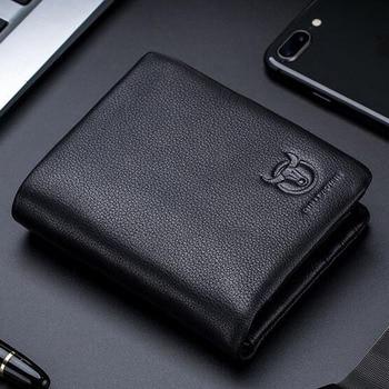 BULLCAPTAIN 2019 Männliche Kurze Trifold Haspe Zipper Brieftasche MÄNNER Kuh Leder Mode Brieftasche Münze Tasche Geld Geldbörse Tasche Karte Halter